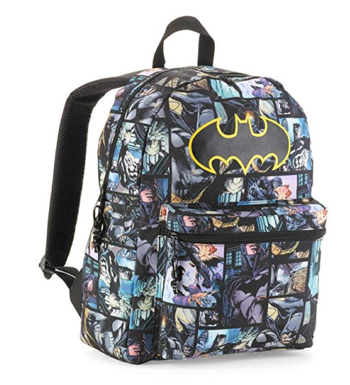 Batman comic print backpack