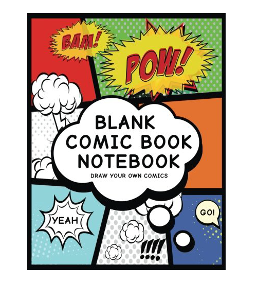 blank comic book notebook