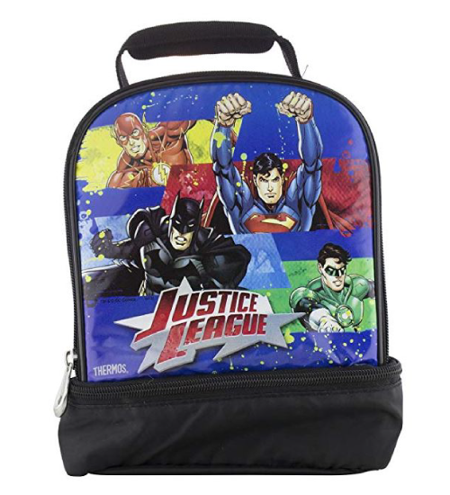Justice League THERMOS duel lunch bag