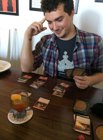 Kyle from DSRA Podcast participating in a MtG draft