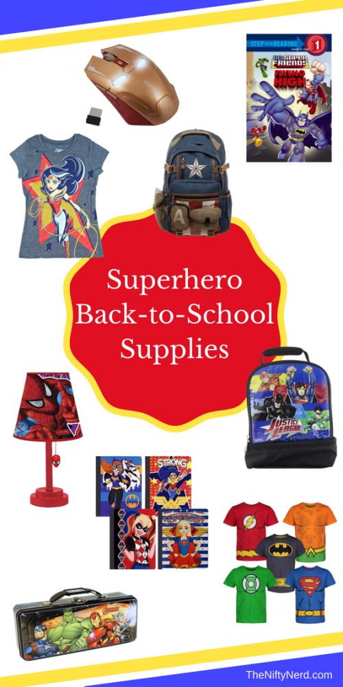 Superhero school supplies