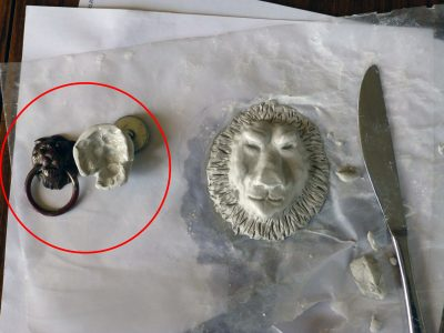 lions head clay mold