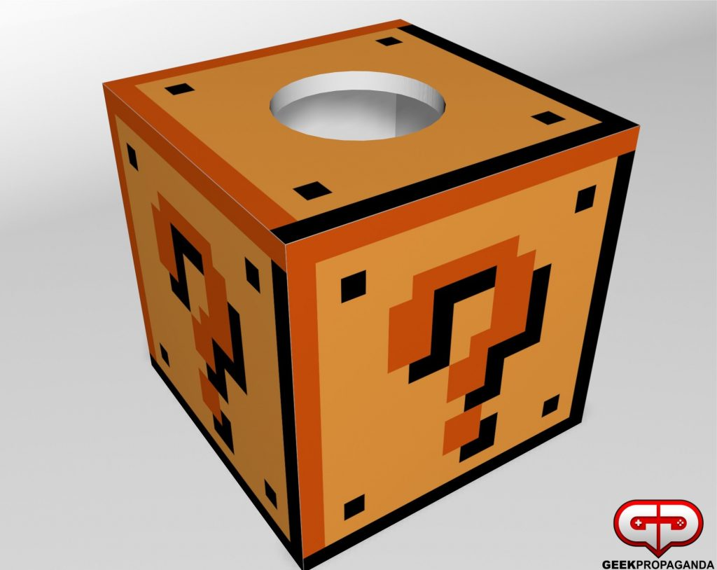Super Mario ? Block Tissue Box Cover
