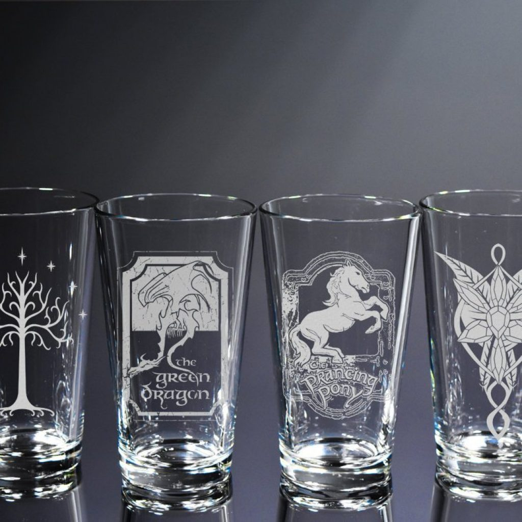Lord of the Rings glass set