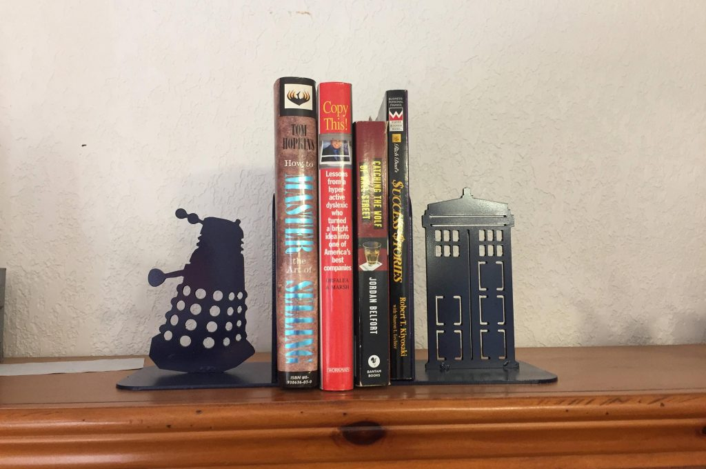 Doctor Who Tardis and Dalek bookend set