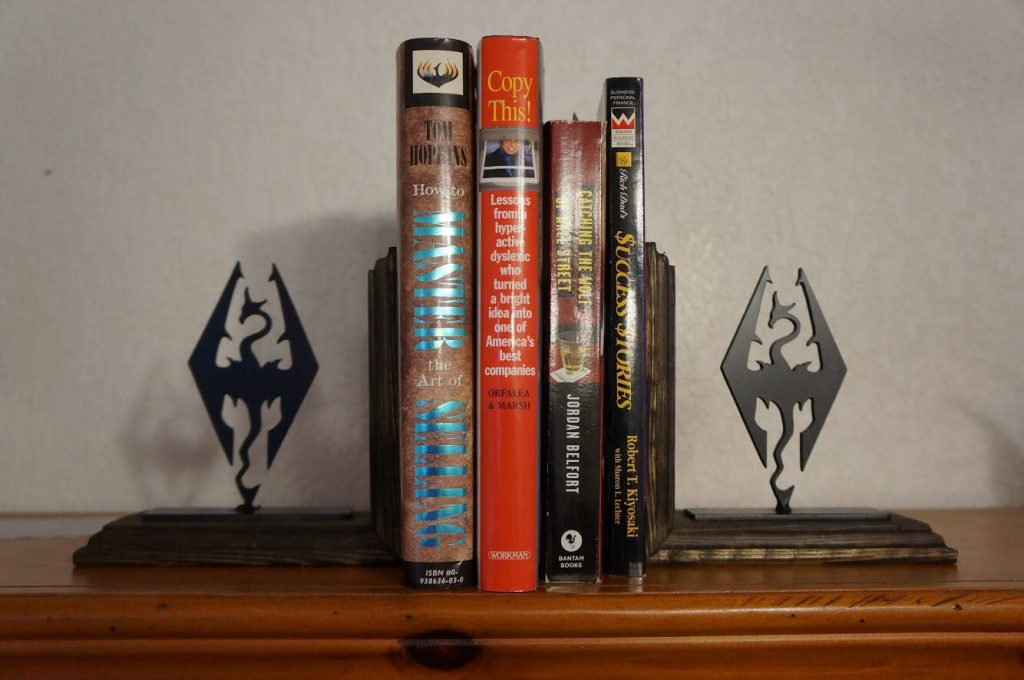 Skyrim steel bookend set