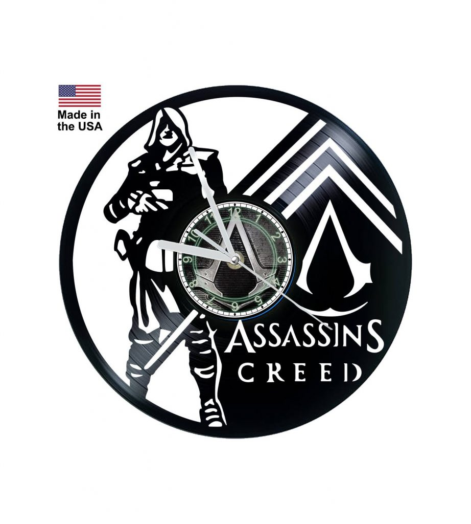 Assassin's Creed vinyl clock