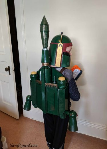 Boba Fett costume from the back side