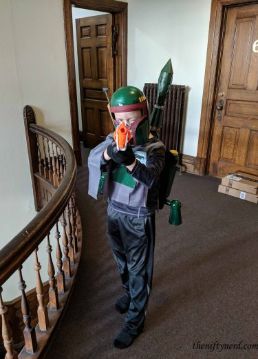 Boba Fett costume from the front