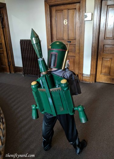 Homemade Boba Fett jet pack costume