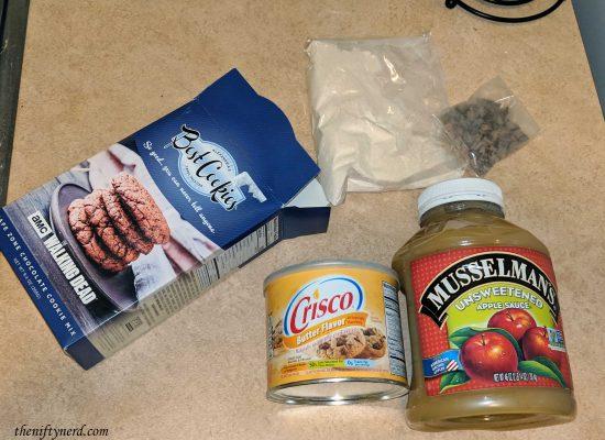 ingredients for Carol's cookies