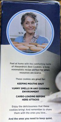 Carol's Walking Dead cookie mix box