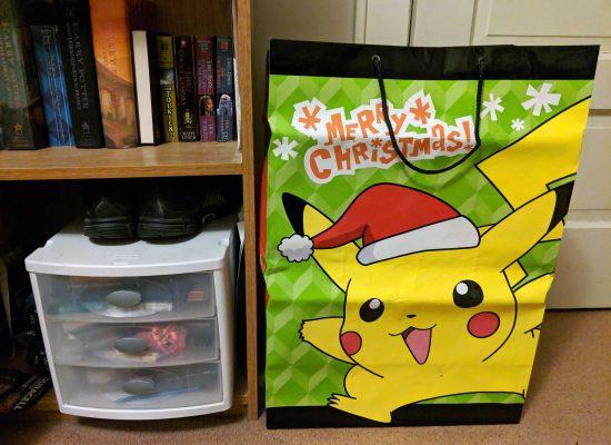 Christmas Pikachu gift bag