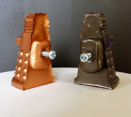 back side of Dalek cabinet knobs