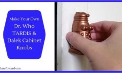 Dr. Who TARDIS and Dalek Cabinet Knobs
