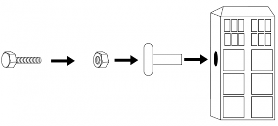 Assembly diagram of TARDIS knob