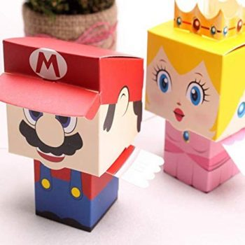Mario and Princess Peach candy boxes