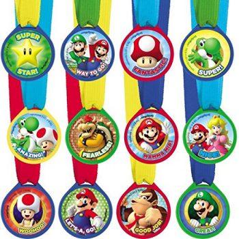 Mario award medal party favors
