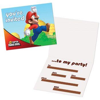 You're Invited Mario Bros. event invitation
