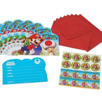 Mario postcard invitation kit