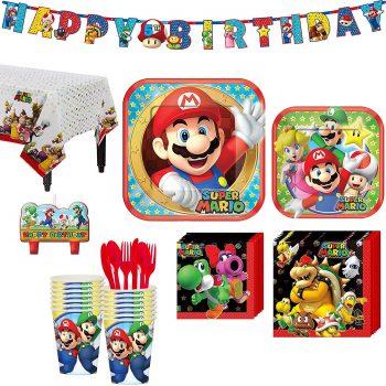 Mario birthday party tableware kit
