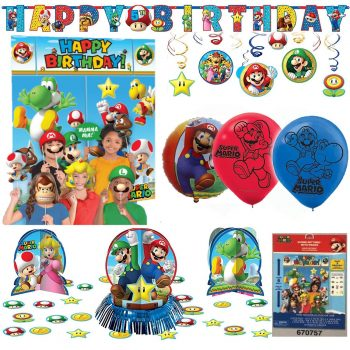 Mario birthday party decoration kit