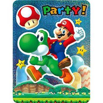 Mario and Yoshi party inivtation