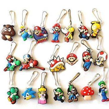 Super Mario zipper pull charms