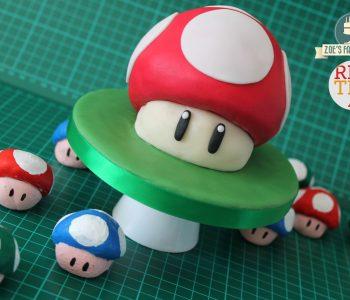 1UP mushroom cake via Red Ted Art