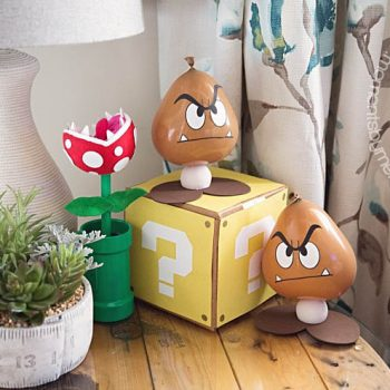 Goomba balloon party decorations via Moments by Melissa Miller