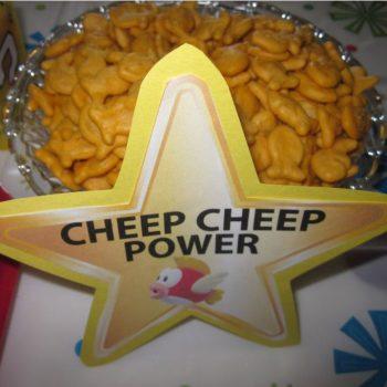 Cheep Cheep power goldfish crackers via Lucky Lady Games