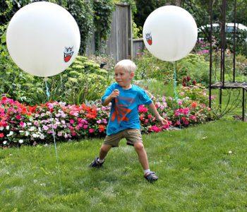 Boo balloon obstacle course via Borealis Blog