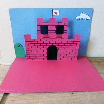 Super Mario castle 3D pop-up card
