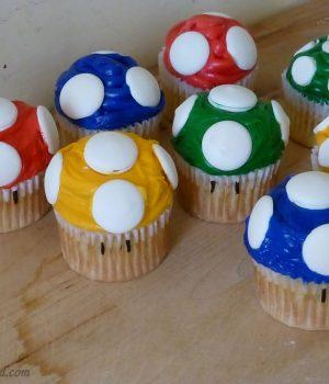 1up mushroom cupcakes