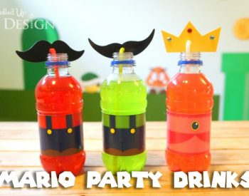 Mario party drinks via Moms and Munchkins