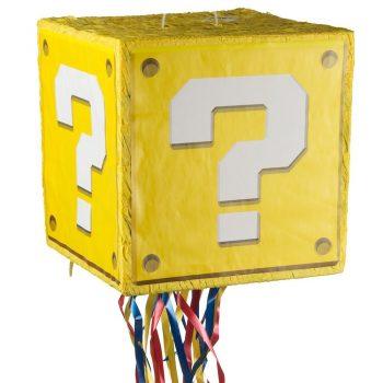 Mario question mark block pinata