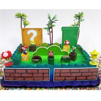 Super Mario cake topper decorating kit
