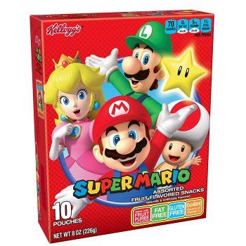 Super Mario fruit snacks