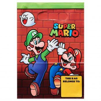 Mario, Luigi, and Boo treat bag