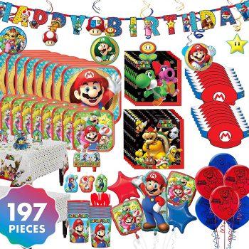 197 piece Mario party decor kit